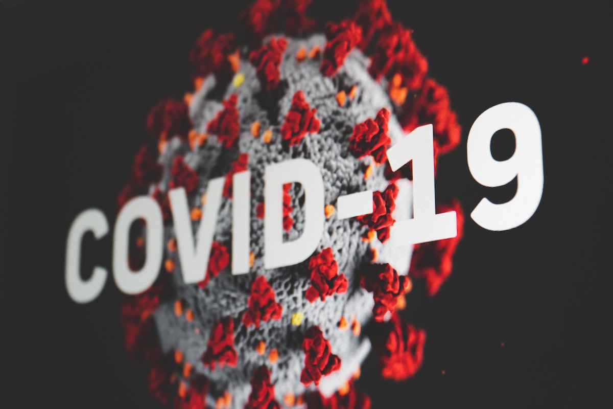 Coronavirus image displaying COVID-19 with a dark end time conditions background