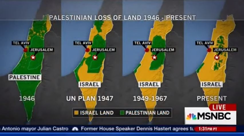 Palestinian land 'loss' map