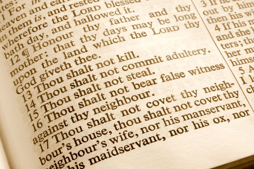 Close up of the Bible showing what are God's standards?